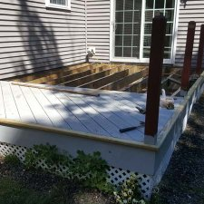 Deck repairs in progress for home improvement project