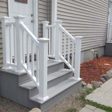 New stairs and railings completed on home improvement project