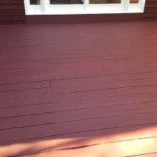 Wood deck refinished with new coating for home remodel project
