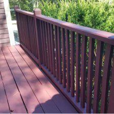 Outside deck and railings refinished for home remodel